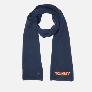 Tommy Hilfiger Women's Tommy Patch Knit Scarf - Navy