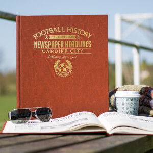Cardiff City Football Newspaper Book - Brown Leatherette