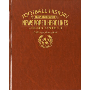 Leeds Football Newspaper Book - Brown Leatherette