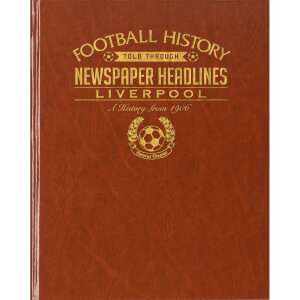 Liverpool Newspaper Book - Brown Leatherette