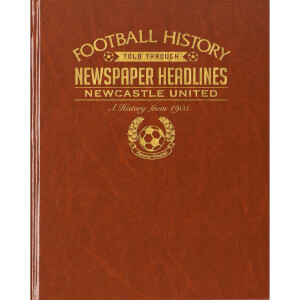 Newcastle Newspaper Book - Brown Leatherette