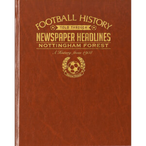 Notts Forest Newspaper Book - Brown Leatherette