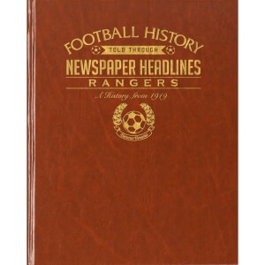 Rangers Newspaper Book - Brown Leatherette