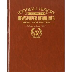 West Ham Newspaper Book - Brown Leatherette