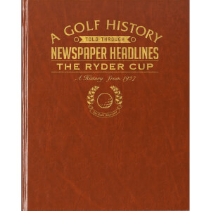 Ryder Cup Golf Newspaper Book - Brown Leatherette