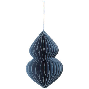 Broste Copenhagen Paper Christmas Decoration - Orion Blue - Ornament