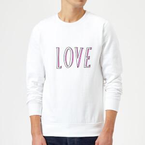 Rock On Ruby Love Sweatshirt - White