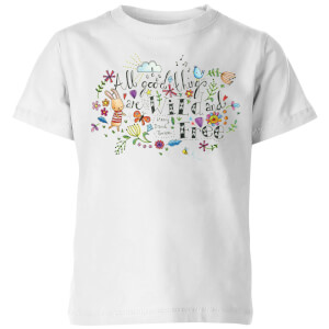 A Little Cloth Rabbit All Good Things Are Wild and Free Kids' T-Shirt - White