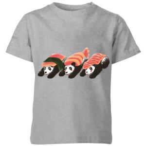 Tobias Fonseca Panda Sushi Kids' T-Shirt - Grey