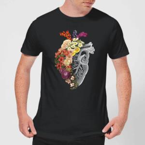 Tobias Fonseca Flower Heart Spring Men's T-Shirt - Black