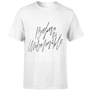 PlanetA444 Believe The Unbelievable Men's T-Shirt - White