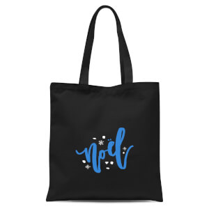 Noel Snowflakes Tote Bag - Black