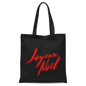 Joyeux Noel Holly Jolly International Tote Bag - Black