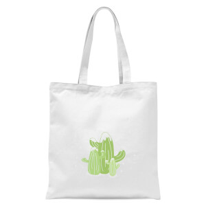 Cactus Trio Tote Bag - White