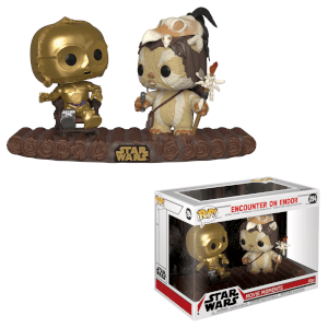 Figura Funko Pop! Movie Moment - C3PO y Ewok Logray - Star Wars