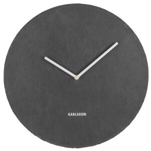 Karlsson Wall Clock Slate Black - Large