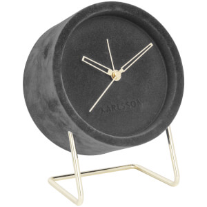 Karlsson Alarm Clock Lush Velvet - Dark Grey