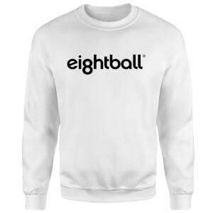 Ei8htball Chest Print Sweatshirt - White