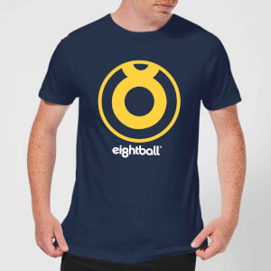 Ei8htball Large Yellow Logo Men's T-Shirt - Navy