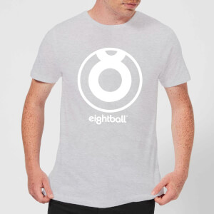 Ei8htball Large White Logo Men's T-Shirt - Grey