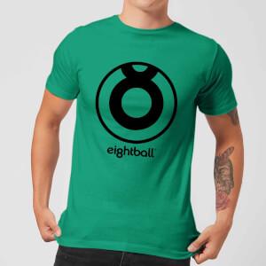 Ei8htball Large Black Logo Men's T-Shirt - Kelly Green