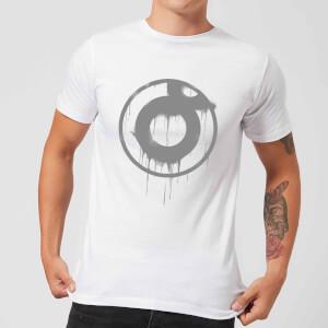 Ei8htball Spray Paint Logo Grey Men's T-Shirt - White