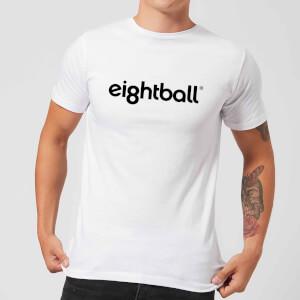 Ei8htball Chest Print Men's T-Shirt - White
