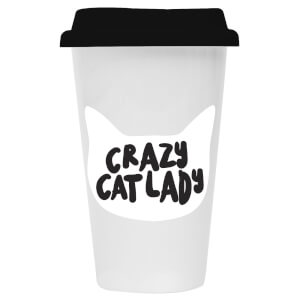 Crazy Cat Lady Ceramic Travel Mug