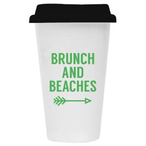 Brunch and Beaches Ceramic Travel Mug