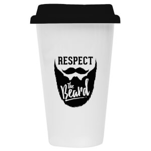 Respect The Beard Ceramic Travel Mug