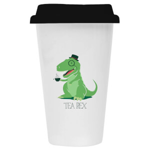 Tea Rex Ceramic Travel Mug