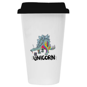 Dinosaur Unicorn Ceramic Travel Mug