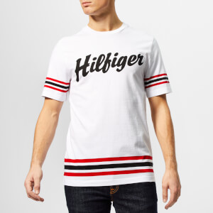 Tommy Hilfiger Men's Logo Script Relaxed Fit T-Shirt - White