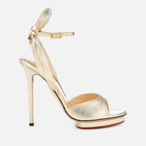 Charlotte Olympia Women's Wallace Sandals - Gold/Lame