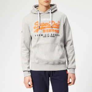 Superdry Men's Premium Goods Tri Infill Hoody - Varsity Grey Grit