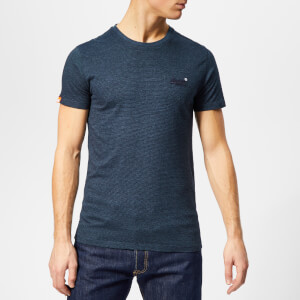 391fc68fe30c Superdry Men s Orange Label Vintage Embossed T-Shirt - Abyss Feeder Stripe