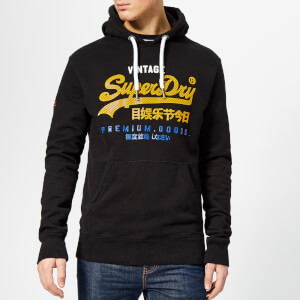 Superdry Men's Premium Goods Tri Infill Hoody - Black