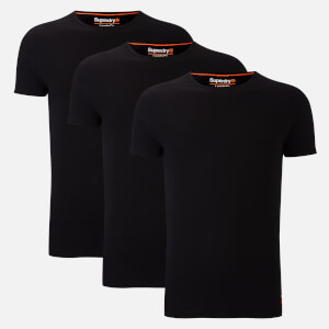 Superdry Men's Superdry Laundry Slim Tee Triple Pack - Laundry Black