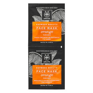 APIVITA Express Radiance Face Mask – Orange 2 x 8 ml