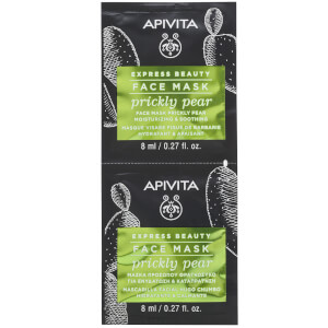 APIVITA Express Moisturizing & Soothing Face Mask – Prickly Pear 2 x 8 ml