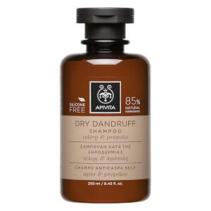 Champú anticaspa seca para el cuidado holístico del cabello de APIVITA - apio y propóleo 250 ml