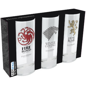 Game of Thrones Set of 3 Glasses
