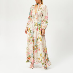 Zimmermann Women's Heathers Plunge Long Dress - Garden Floral