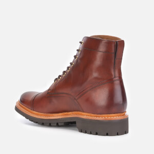 Grenson Men's Joseph Hand Painted Leather Lace Up Boots - Tan: Image 2