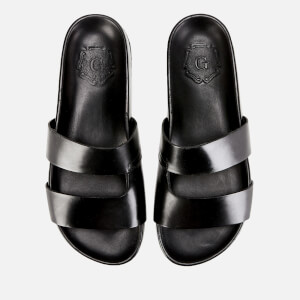 Grenson Men's Chadwick Leather Slide Sandals - Black