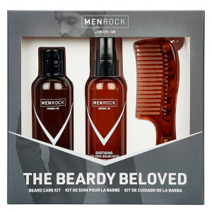Men Rock The Beardy Beloved Starter Beard Care Kit - Soothing Oak Moss (Worth £30.95): Image 1