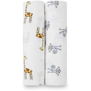 aden + anais Classic Swaddle 2-Pack Jungle Jam