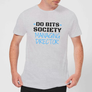 Big and Beautiful Do Bits Managing Director Men's T-Shirt - Grey