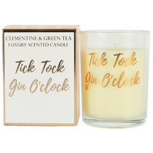 Tick Tock Gin O'Clock Candle in Gift Box - Rose Gold