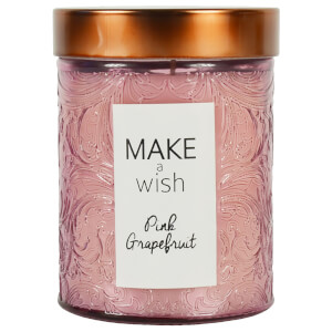 Glass Wax Filled Pot with Rose Gold Lid - Pink Grapefruit Scent